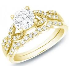 yellow gold bridal sets women s bridal wedding ring set k yellow gold my trio rings in