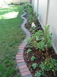 outstanding stone landscaping ideas with brick edging u2013 traditional 4 u201d x 8 u201d clay bricks create an