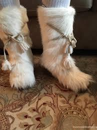 womens ski boots canada boots store oscar winna white goat hair fur winter