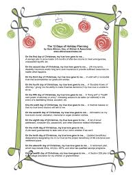 feel friday the 12 days of planning altman