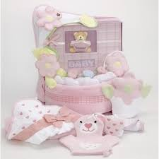 baby girl album keepsake layette cake baby girl gift by silly phillie