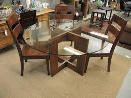 Glass Round Dining Room Table Dining Set Round Kitchen Table And Chairs Crate And Barrel