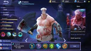 franco new hybrid build mobile legends