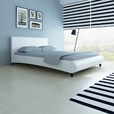 curved bed frame white leather bed frame curved design artificial 140 x 200 cm