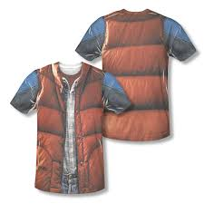 back to the future costume back to the future marty mcfly vest all t shirt