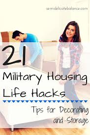 21 military housing hacks tips for decorating and storage