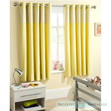 Yellow Nursery Curtains Childrens Gingham Curtain Thermal Blockout Eyelet Ring Top