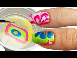 come fare la water marble nail art youtube unghie