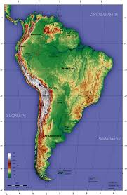 Maps South America by Map Of South America Topographic Map Worldofmaps Net Online