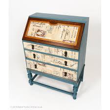 bureau retro vintage retro shabby chic painted writing desk bureau with three drawers