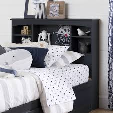 White Twin Bookcase Headboard by South Shore Aviron Blueberry 39 Inch Twin Bookcase Headboard