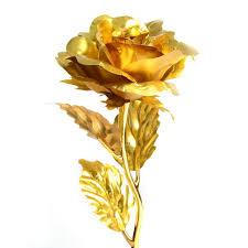 golden roses 24k gold foil plated wedding propose brithday party