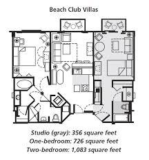 Bay Lake Tower Two Bedroom Villa Floor Plan Disney U0027s Beach Club Villas