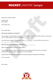 Loan Outstanding Letter payment letter debt recovery letter overdue payment letter
