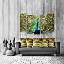 online shop oil paintings canvas peacock wall art decoration