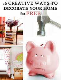 creative ways to decorate your home for free