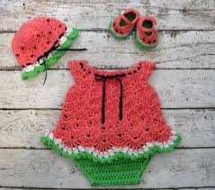 baby girl crochet newborn baby dress set watermelon baby dress set