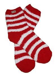 fuzzy christmas socks rsg women s fuzzy cozy christmas striped