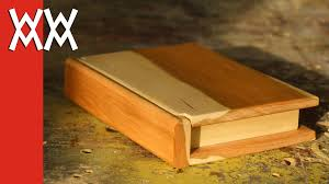 Cool Wood Projects For Gifts by Wooden Book Keepsake Box Valentine U0027s Day Gift Idea Youtube