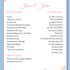 one page wedding program template free one page wedding program templates for microsoft word endo
