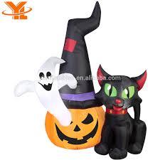 Halloween Witch Animated Inflatable Halloween Black Cat Inflatable Halloween Black Cat