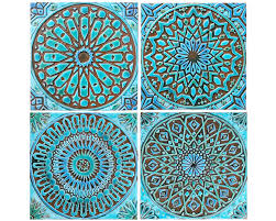 Bathroom Wall Hangings Wall Decor 4 Moroccan Wall Hangings Ceramic Tiles Wall Decor By