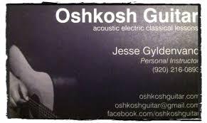 new oshkosh guitar business cards oshkosh guitar