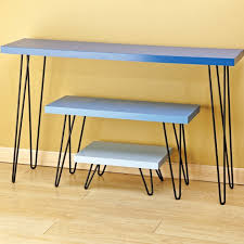 hairpin leg console table i semble hairpin table legs rockler woodworking and hardware
