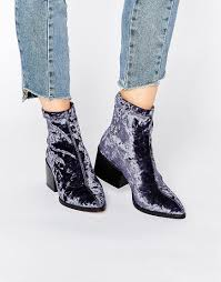 womens boots asos asos pointed velvet sock boots things to buy