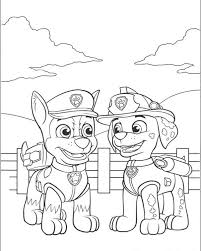free printable paw patrol coloring pages kids print