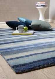 Grey Striped Rug Review Of Ultimate Stripe 01 Blue Grey Wool Rug By Plantation Rugs