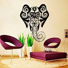 home decor wall art stickers aliexpress com buy living room wall art sticker indina elephant