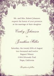 vineyard wedding invitations rustic vineyard wedding invitation vintage grapevine