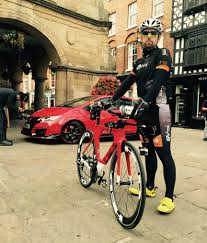 ferrari bicycle car the honda civic type r takes on a bicycle in the shrewsbury