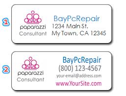 paparazzi accessories consultant personal return address labels