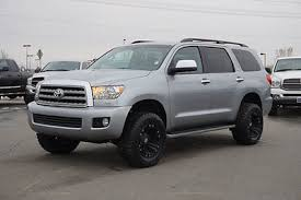 toyota sequoia lifted pics toyota sequoia limited 4x4 suv leather navigation roof custom lift