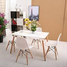Dining Set With 4 Chairs Inspired Eiffel Retro Design Style Table Dining Set With 4 Chairs