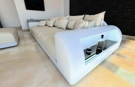 sofa mit beleuchtung bigsofa megasofa xl sofa materialmix miami hocker und
