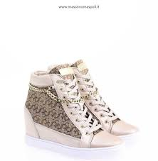 all zeppa interna donna commercio all ingrosso outlet guess sneakers con zeppa