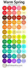 Color Palette Examples by Shaded Spring Color Palette Warm Spring Spring Color Palette