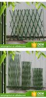 eco friendly bamboo decorative flower garden fencing folding