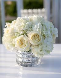 hydrangea centerpiece ivory and hydrangea low centerpieces like with no roses i