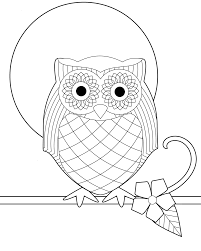 free printable owl coloring pages for kids inside owls itgod me