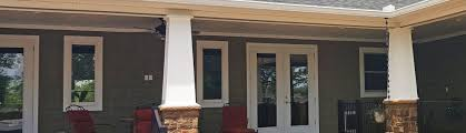 square tapered craftsman column for tennessee home architectural