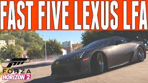 lexus in fast five forza horizon 2 fast furious drift build han s lexus lfa drift
