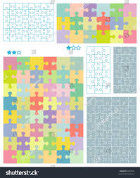 jigsaw puzzle blank templates 3x6 18 stock illustration 8902078