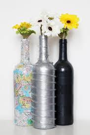 silver wine bottles diy silver painted wine bottle kavett