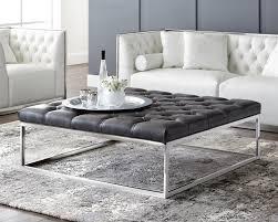 sutton square ottoman large grey leather
