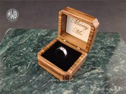wood engagement rings buy a crafted zebra wood engagement ring box with free
