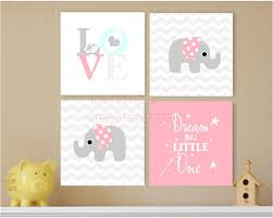 Cute Sayings For Home Decor Framed Canvas Print Love 4 Piece Set 2 Cute Elephant Bird